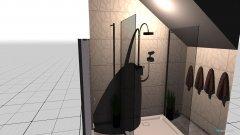 Raumgestaltung DUSCHE IN DER Schräge in der Kategorie Badezimmer