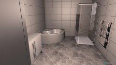 Raumgestaltung EG Badezimmer variante 1 in der Kategorie Badezimmer