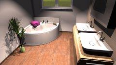 Raumgestaltung Elternbad 120x100 EckBadewanne in der Kategorie Badezimmer