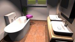 Raumgestaltung Elternbad 120x100 freistehende BW mit 20erMauer in der Kategorie Badezimmer