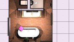 Raumgestaltung Elternbad 120x100 freistehende BW in der Kategorie Badezimmer