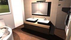 Raumgestaltung Elternbad 120x100 in der Kategorie Badezimmer