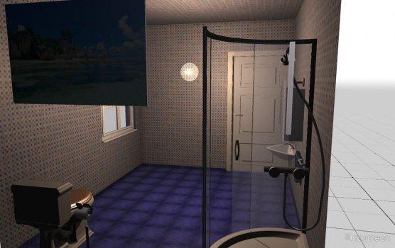 Raumgestaltung Gäste WC (Fremdprojekt) in der Kategorie Badezimmer