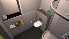 Raumgestaltung Gaestebad unten in der Kategorie Badezimmer