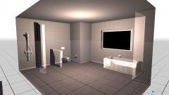 Raumgestaltung großes Bad in der Kategorie Badezimmer