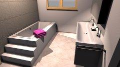 Raumgestaltung Grundriss T120 mit 80:80 und Treppenwanne in der Kategorie Badezimmer