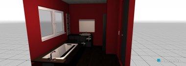 Raumgestaltung Grundrissvorlage Bad1 in der Kategorie Badezimmer
