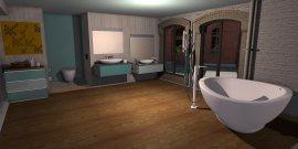 Raumgestaltung Loft Showroom  Bad in der Kategorie Badezimmer