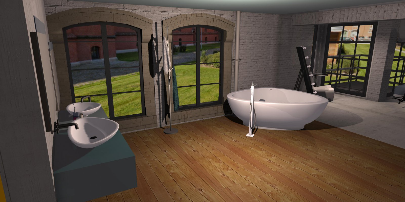 Raumplanung Loft Showroom Bad - roomeon Community