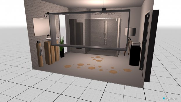 Raumgestaltung Modern Bathroom in der Kategorie Badezimmer