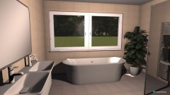Raumgestaltung OG1 Badezimmer in der Kategorie Badezimmer