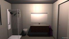 Raumgestaltung Rosengarten Gästebad in der Kategorie Badezimmer