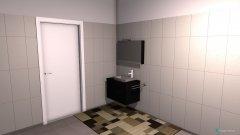Raumgestaltung schmalle in der Kategorie Badezimmer