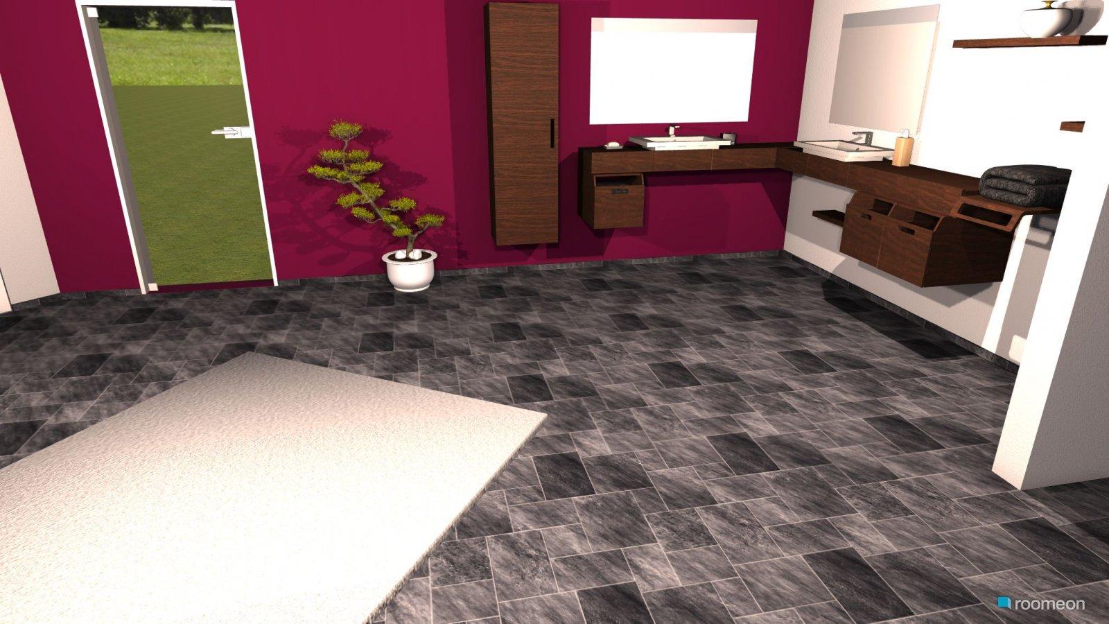 raumgestaltung schwarz braun lila wei in der kategorie badezimmer - Bad Schwarz Wei Braun