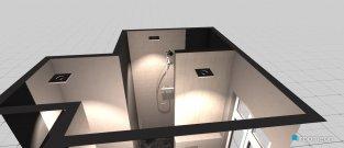 Raumgestaltung Toilette Duschbad neben Küche in der Kategorie Badezimmer