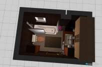 Raumgestaltung wc 1 in der Kategorie Badezimmer