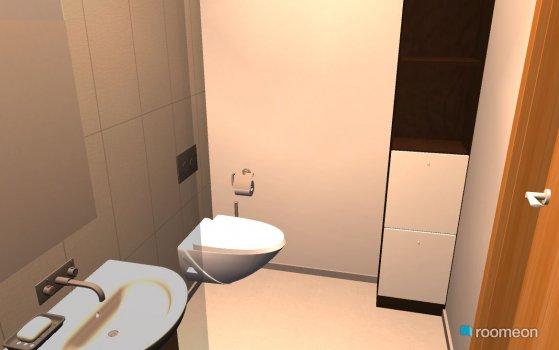 Raumgestaltung WC mit Nische in der Kategorie Badezimmer