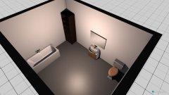 Raumgestaltung Wohnung Bad in der Kategorie Badezimmer