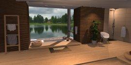 Raumgestaltung Wooden Spa in der Kategorie Badezimmer