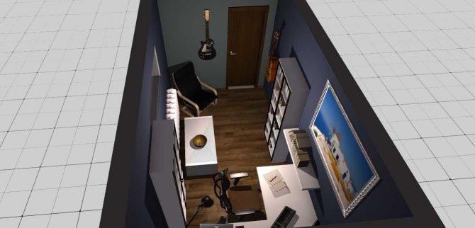 Raumgestaltung Denis Zimmer keller in der Kategorie Büro