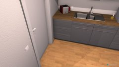Raumgestaltung Ein kleines Zimmer mit Gamining Ecke,Küche und Sofa in der Kategorie Büro