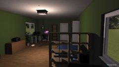 Raumgestaltung Gamerzimmer in der Kategorie Büro