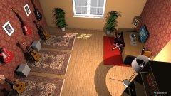 Raumgestaltung Gitarrrenzimmer in der Kategorie Büro