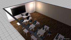 Raumgestaltung Grundriss Raum Salbei in der Kategorie Büro