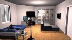 Raumgestaltung Grundrissvorlage Eckraum in der Kategorie Büro