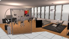 Raumgestaltung Grundrissvorlage L-Form in der Kategorie Büro