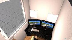 Raumgestaltung Kleines Zimmer oben in der Kategorie Büro