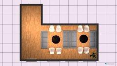 Raumgestaltung Aufenthalt 2 5. OG Var 3 in der Kategorie Esszimmer