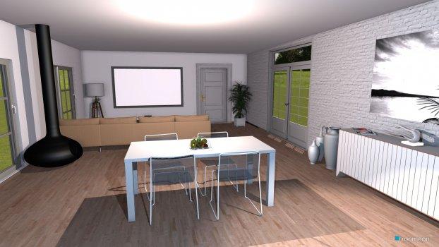 Raumgestaltung Eigene offene Küche in der Kategorie Esszimmer