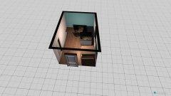 Raumgestaltung Ess-Arbeitszimmer in der Kategorie Esszimmer