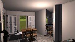 Raumgestaltung Esszimmer mit Kamin links in der Kategorie Esszimmer