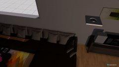 Raumgestaltung Esszimmer mit Wohnzimmer in der Kategorie Esszimmer