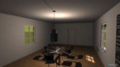 Raumgestaltung Futuristisches Esszimmer in der Kategorie Esszimmer