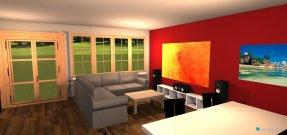 Raumgestaltung Großes Wohnzimmer in der Kategorie Esszimmer