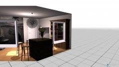 Raumgestaltung Grundrissvorlage Eckraum in der Kategorie Esszimmer