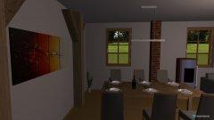 Raumgestaltung Grundrissvorlage L-Form in der Kategorie Esszimmer