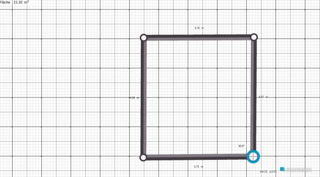 Raumgestaltung Grundrissvorlage Quadrat in der Kategorie Esszimmer