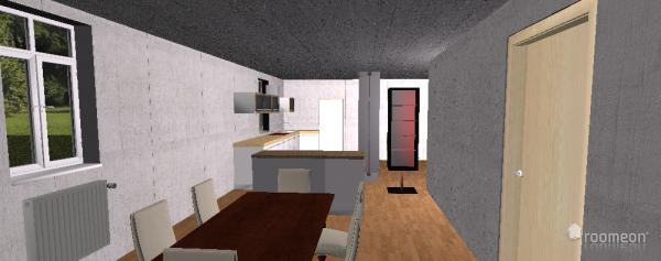 Raumgestaltung Küche+Esszimmer-Wohnzimmer in der Kategorie Esszimmer