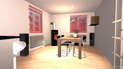 Raumgestaltung Küche und Essbereich in der Kategorie Esszimmer