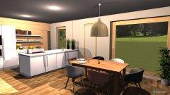 Raumgestaltung Küche und Esszimmer in der Kategorie Esszimmer
