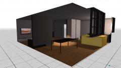 Raumgestaltung Küche und Wohnen in der Kategorie Esszimmer