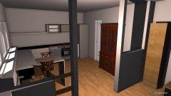 Raumgestaltung Küche und Wohnzimmer in der Kategorie Esszimmer