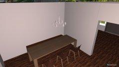 Raumgestaltung Küche-, Wohn-, Esszimmer in der Kategorie Esszimmer
