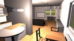 Raumgestaltung Küche Wohnzimmer in der Kategorie Esszimmer
