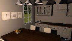 Raumgestaltung Landhaus Wohn-,Ess-,Arbeitsbereich in der Kategorie Esszimmer