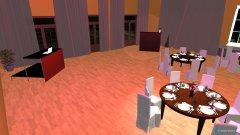 Raumgestaltung light Saal- 50 pax an 7 runden Tischen in der Kategorie Esszimmer